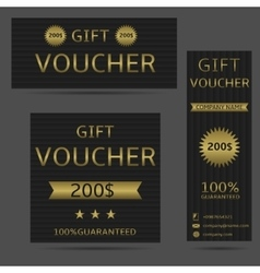 Voucher card set vector image