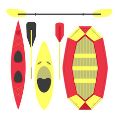Water sports equipment vector