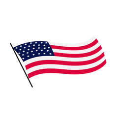 Waving flag united states america vector