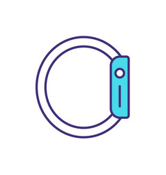 Wearable technology rgb color icon vector