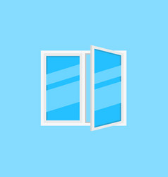 window with blue glass sign or icon vector image