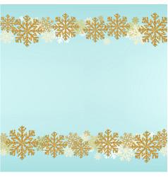 winter snowflake border blue background vector image