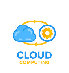 cloud technology icon vector image vector image