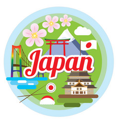 love japan concept vector image vector image