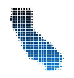 map of California vector image vector image