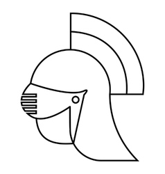 Medieval helmet icon outline style vector