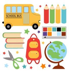 SCHOOL SET vector image vector image
