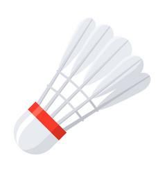 shuttlecock for badminton vector image