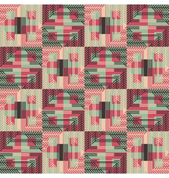 textured geometric seamless pattern vector image vector image