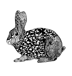 Zentangle stylized rabbit Sketch for tattoo or t vector image vector image