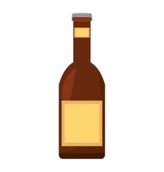 beer bottle drink pour vector image vector image