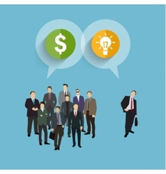 Concept of crowdfunding vector image