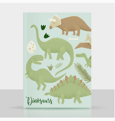 Dinosaurs design tyrannosaurus rex vector