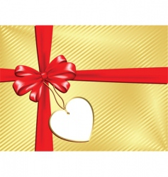 gift with label vector image vector image
