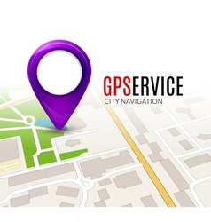 Perspective city map GPS service concept 3d city vector image vector image