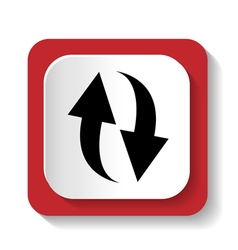 rotation icon refresh sign vector image