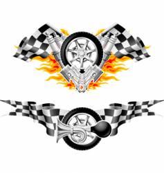sports race emblems vector image