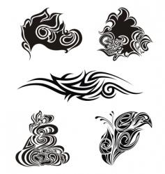 tattoo design elements vector image vector image