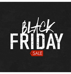 black friday blackboard vector image