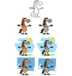 Horse cartoon vector image vector image
