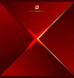Abstract background red geometric triangles vector
