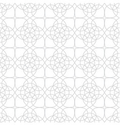 abstract line floral pattern vector image