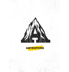 adventure mountain hike motivation concept vector image