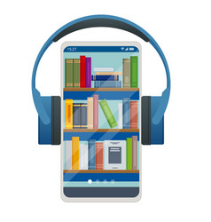 Audiobooks concept listening to e-books in audio vector