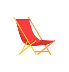 Beach sunbed emblem cartoon isolated icon vector