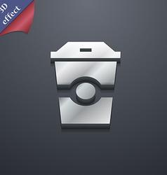 Breakfast Coffee icon symbol 3D style Trendy vector image