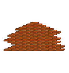 Brick wall in dark red and brown design vector