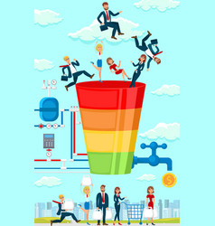 business strategy flat vector image