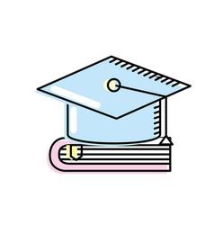 Cap graduation over close book vector