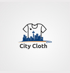city cloth logo icon element and template for vector image