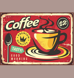 coffee sign in retro style vector image