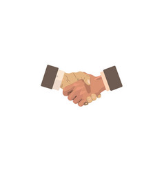 color image business concept handshake vector image