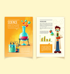 Colorful template of science brochure vector