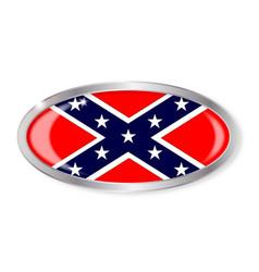 Confederate flag oval button vector