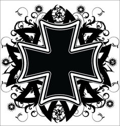 Cross tattoo vector image