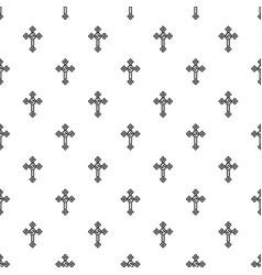 cross with diamonds pattern vector image