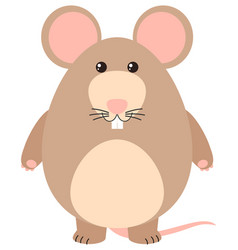 Cute rat with happy face vector