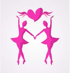 dancer girl symbol vector image