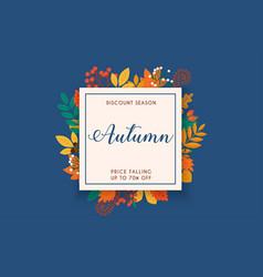 discount season sale autumn leafs vector image
