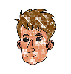 drawing cartoon head man adult male image vector image