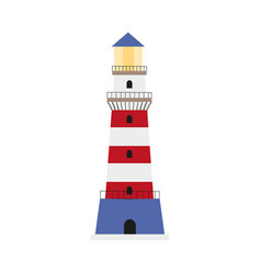 Flat lighthouse icon symbol decoration element vector