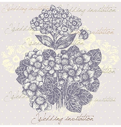 Floral Background Invitation vector