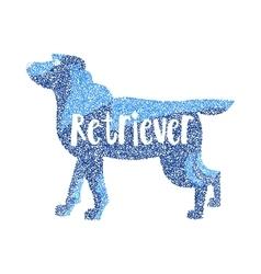 Form round particles labrador retriever dog breed vector
