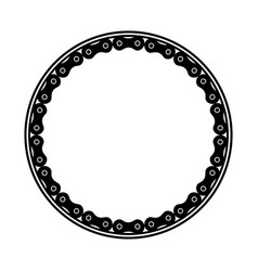 Frame with chain bicycle vector