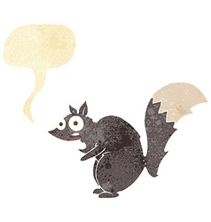 Funny startled squirrel cartoon with speech bubble vector