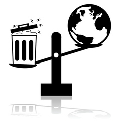 Garbage and Earth scale vector image